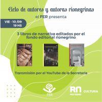 Nuevo Ciclo de Autores y Autoras Rionegrinas del FER