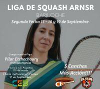 Se juega la segunda fecha de la Liga rionegrina de Squash con destacadas figuras