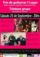 Trío de guitarras 7 Lagos y Grupo Tríotono: música popular argentina y latinoamericana
