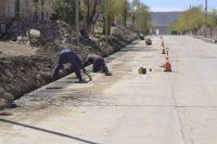 Comallo construye pavimento y cordón cuneta con fondos de Nación y Provincia
