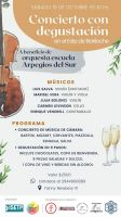 Este sábado se realizará un concierto con degustación a beneficio de la Orquesta Arpegios del Sur