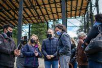 Marks y Doñate visitaron las obras del Teatro público de Bariloche